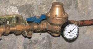 Installation sanitaire : réducteur de pression